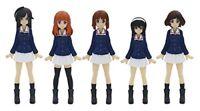Platz Girls Und Panzer Ankou Team Figure 5 Set 1/35 Gpfc-1 anime From JAPAN