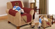 Quilted Sofa Protector Arm chair/ Couch/Furniture/ Suites slip Cover Reversible