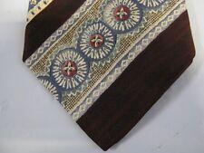 Bill Blass Silk Tie Necktie 57 x 3.75 brown blue red 13308 FREE US SHIP