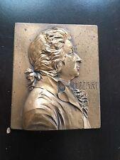Antique 1930s Original Franz Stiasny Cast Bronze Portrait Medal Mozart Austria