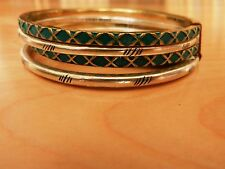 Lucky Brand  Two tone Etched Bangle Bracelet Set MSRP $35