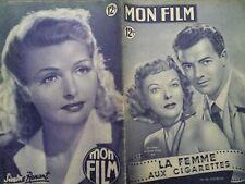"MON FILM 1950 N 181 "" LA FEMME AUX CIGARETTES"" avec IDA LUPINO et CORNEL WILDE"