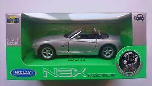 WELLY BMW Z4 SILVER 1:34 DIE CAST METAL MODEL NEW IN BOX