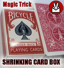 MINI SHRINKING CARD CASE ILLUSION SMALL GIMMICK BOX MAGIC TRICK PROP SHRINK PACK