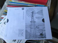 "X/"" Windmill  Parts List Baker Monitor Steel /""E"