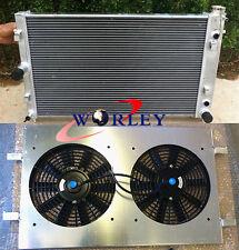 Aluminum radiator & shroud & fans for Commodore VZ LS1 LS2 SS V8 2004-2006 05
