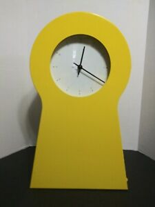 IKEA 1995 Yellow Shelf Key Hole Shape Wall Clock Storage