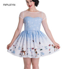 Hell Bunny Mini Dress NEVARA Noelle Snowflake Christmas Blue All Sizes