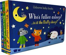 Usborne Baby Books Collection 3 Board Books Set Gift Pack Who Fallen Asleep