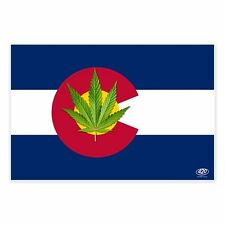 Marijuana Leaf Colorado State Flag 3X5 Colorado Pot Weed Reefer Novelty Gifts