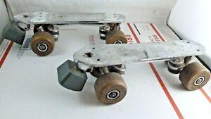 Vintage Chicago Custom Gold Medalist Roller Skates Trucks Hangers Wheels Base