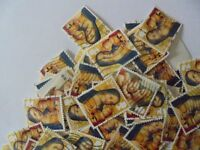 100 x 2nd Class  Xmas GB Stamps Madonna & Child - Used - Franked - Off Paper