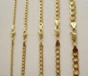 CUBAN LINK AUTHENTIC 10K GOLD MEN'S WOMEN'S CHAIN NECKLACE 2.4mm-6.8mm 16''-30''