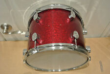 """ADD this PDP by DW CX 12"""" ALL MAPLE PLY RED SPARKLE TOM to YOUR DRUM SET! #E253"""