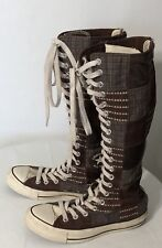 Converse All Star Tall Brown Patchwork Sneaker Shoes Size Mens 5 Women 7