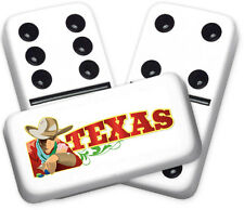 Texana Series Cowboy Design Double six Professional size Dominoes
