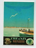 Carte postale. L'ILE D'AIX par Commarmond. Editions Clouet.  Mémoire d'un Mur