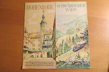 altes Reiseprospekt Hohenlohe Schwäbischer Wald 1950 , auffaltbar