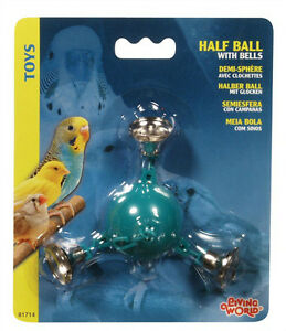 Living World Bird Cage Toy Half Ball with 3 Metal Balls