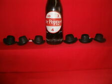 "2"" BLACK FELT TOP HATS  GROUPS OF 6  # TOP2"