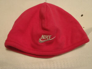NIKE BABY Girls O/S Pink Embroidered White Word Swoosh Cotton Hat Cap NWT