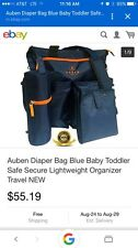Auben Diaper Bag with Changing Mat and Bottle Bag Blue From London, England New