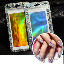 2× Holographic Laser Strip Tape Nail Art Stickers Glitter Stripe Line Foil Decal