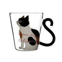 Cute Cat Lovers Mug Creative Cartoon Kitty Water Glass Tea Milk Coffee Cup