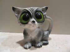 New listing Vintage Big Eye Cat Creamer