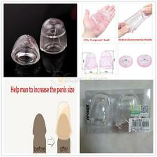 2Pcs Sexy Toys Silicone Male Penis Sleeve Glans Condom Penis Enhancers for Man