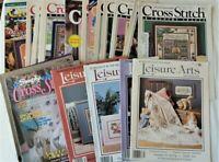 Lot 22 Vtg Magazines Cross Stitch & County Crafts Leisure Arts & More