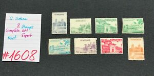 South Vietnam stamps, 8 Mint Stamps, SCV 2009=$15.00, #1608 or #1609