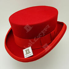 CLASSIC Wool Felt Tuxedo Topper Top Hat Men Women Short Victorian | 59cm | Red