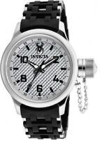 New Mens Invicta 17789 Russian Diver Swiss Quartz 52mm Black Strap Watch