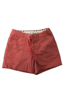 The North Face Men's Pink/Orange Tie Waist Casual Hiking Shorts Sz S Long