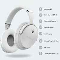 Mpow Bluetooth Over Ear Headphones Foldable Headset Active Noise Cancelling Mic