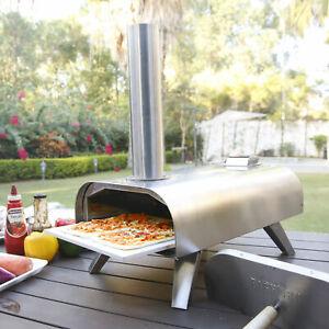 Big Horn Outdoors Pellet Grill Wood BBQ Smoker Portable Pizza Oven Food Grade SS