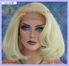 Lace Front Wig HAND TIED FRONT 613 BLOND SOFT SEXY WAVES   US SELLER 123
