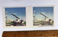 1960s 3D STEREO VIEWER PHOTO CARD CEREAL TAA TRANS AUSTRALIA AIRLINES HELICOPTER