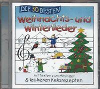 DIE 30 BESTEN WEIHNACHTS UND WINTERLIEDER * CD MIT TEXTEN ZUM MITSINGEN * NEU *