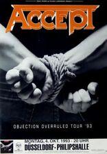 ACCEPT - 1993 - Konzertplakat - Objection Overruled - Tourposter - Düsseldorf