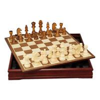 Jeu d'échecs International Set échiquier en bois  30x30x4cm