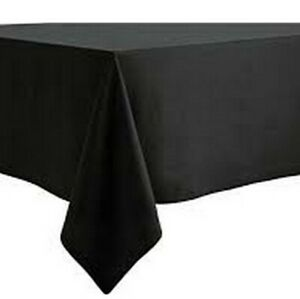 PLAIN BLACK POLYESTER TABLE CLOTHS HEAVY DUTY CATERING HOTEL QUALITY ALL SIZES