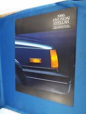 1986 HYUNDAI STELLAR CAR SALES BROCHURE FEATURES COLORS EQUIPMENT SPECIFICATIONS