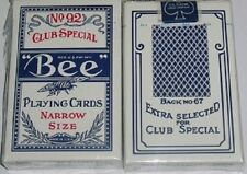 1 deck BEE 92 NARROW SIZE PLAYING CARD BLUE-S102N06-3