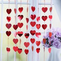 2m Red Heart String Valentines Day Decorations Engagement Wedding Party .xkj