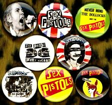 "Sex Pistols 8 NEW 1"" buttons pin badge UK punk johnny anarchy god save the queen"