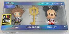 Disney Kingdom Hearts Sora, Keyblade & Mickey Keychain Set 2017 SDCC Convention