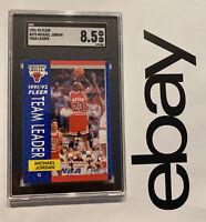 Michael Jordan SGC 8.5 Fleer Collector Card Last Dance Chicago Bulls #375 1991
