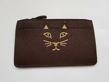 New Charlotte Olympia Feline Coin Purse in Brown